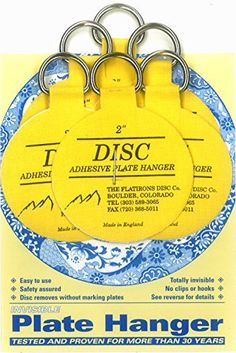 "This small plate hanger set contains six 2 inch Flatirons Disc Brand Adhesive Plate Hangers. Use the 2"" hangers for plates up to 6"" diameter and 2lbs. The 2"" hangers work great for small to medium plates, platters, trays, chargers, tiles, ceramic, and bowls. You can trim the... - http://kitchen-dining.bestselleroutlet.net/product-review-for-flatirons-disc-adhesive-plate-hanger-set-6-2-inch-hangers/"