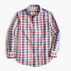 Just like the one in our men's collection, this cotton gingham shirt is a go-to year-round. It's finished with our signature Secret Wash and preshrunk for a true fit—meaning no surprises after the first wash. <ul><li>Regular fit.</li><li>Cotton.</li><li>Button-down collar.</li><li>Machine wash.</li><li>Import.</li></ul>