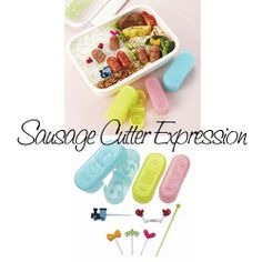 Bento Sausage Cutter and Pick Expression Kawaii Faces