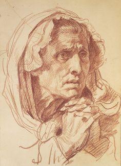 study of a head Jean Baptiste Greuze