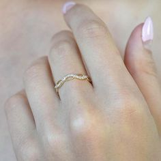 Yellow gold ring Yellow gold band Eternity wedding ring