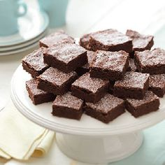 Best Fudgy Brownies Recipe -I love to bake treats like these brownies to share with co-workers. When I was growing up, I helped my mother make delicious, hearty meals and desserts like this for our farm family of eight.—Judy Cunningham, Max, North Dakota