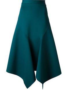 драпированная юбка с асимметричным подолом