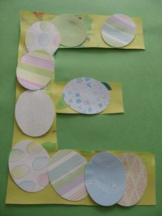 Letter Of The Week Activity – E! – No Time For Flash Cards E is for Egg — glue grass or straw before eggs. – No Time For Flash Cards Letter E Craft, Alphabet Letter Crafts, Abc Crafts, Preschool Crafts, Easter Crafts, Kids Crafts, Easter Decor, Toddler Crafts, Easter Ideas
