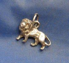Vintage Sterling Silver Animal LION Charm
