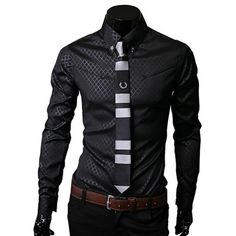 bc202b6385e Men Plaid Shirts Brand 5XL 2016 New Mens Dress Shirts Long Sleeve Slim  Casual Black White