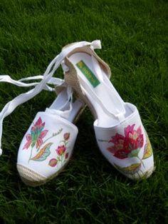 mil flores alpargatas alpargata valenciana,pintura,papel pintura,decuopage