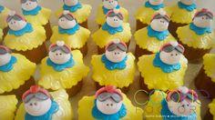 mini cupcakes decorados - tema branca de neve