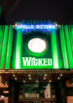 Apollo Victoria - GREEN by night!