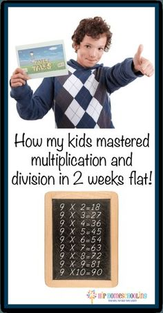 How to teach multiplication in 1 week flat! Check this out! Are you going crazy trying to figure out how to teach multiplication? How my kids mastered multiplication and division in 2 weeks flat! Math For Kids, Fun Math, Kids Fun, Kids Girls, Math Resources, Math Activities, Division Activities, Homeschool Math, Homeschooling