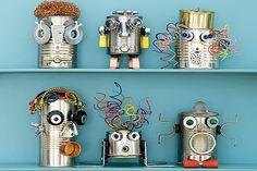 Robots con materiales reciclados