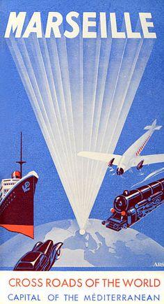 Vintage Advert c1940 for Marseille Crossroads of the World Advert c1940