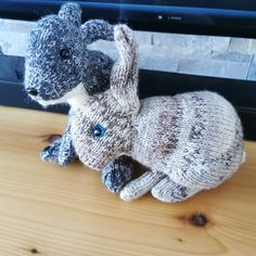 Your place to buy and sell all things handmade Knitted Bunnies, Knitted Cat, Baby Bunnies, Holland Lop, Knitting Kits, Knitting Patterns, Lop Eared Bunny, Wild Rabbit, Owl