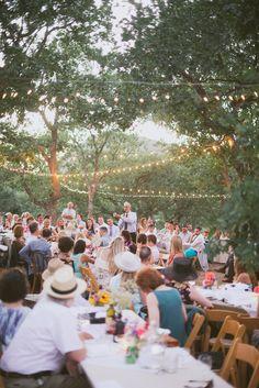 backyard reception // photo by The Weaver House // http://ruffledblog.com/bohemian-ashland-wedding