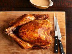 Anne Burrell Big, Brined Herby Turkey recipe from Food Network Magazine.