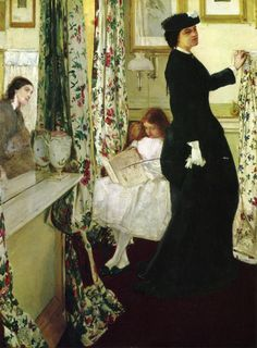 Harmony in Green and Rose: The Music Room - James Abbott McNeill Whistler  1861