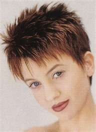 cute short hair style. Spiky with long textured bangs. Although ...