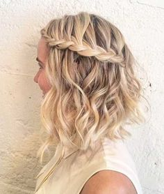 short curly hair with braid - Google Search