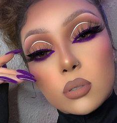 Dope Makeup, Baddie Makeup, Eye Makeup Art, Pretty Makeup, Skin Makeup, Eyeshadow Makeup, Eyeshadows, Creative Eye Makeup, Colorful Eye Makeup