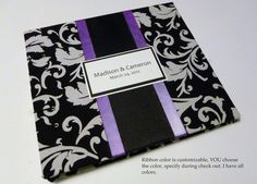 Items similar to Fuchsia Hot Pink Black and White Wedding Guest Book with Damask like Swirl on Etsy Lime Green Weddings, Purple Wedding, Lime Wedding, Dream Wedding, Damask Wedding, Wedding Inspiration, Wedding Ideas, Wedding Stuff, Wedding 2015