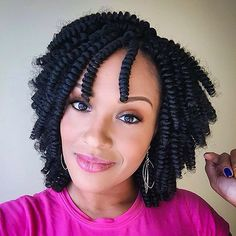 "A fresh Carrie Curl install will leave you perfectly Sweet + Sassy for weeks! Effortlessly rock ""Curls with Confidence""! Short Box Braids Hairstyles, Braided Hairstyles For Black Women Cornrows, Twist Braid Hairstyles, Crochet Braids Hairstyles, My Hairstyle, Twist Braids, Bob Braids, Natural Braid Styles, Kinky Twist Styles"