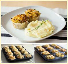 Květákové muffiny, bramborová kaše