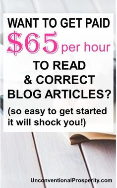 Proofreading is in super high demand and it makes for a very lucrative side hustle! check out this world class proofreader and see how she makes a ton of money doing it! Ways To Earn Money, Earn Money From Home, Make Money Fast, Money Tips, Money Saving Tips, Money Hacks, Earn Money Online Fast, Online Earning, Proofreader