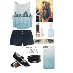 Breathe by fasha0903 on Polyvore featuring polyvore, fashion, style, Aéropostale, Vans, Pieces, Topshop and Essie