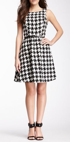 Jessica Simpson Large Houndstooth Print Dress