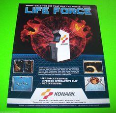 LIFE FORCE By KONAMI 1986 ORIGINAL NOS VIDEO ARCADE GAME SALES FLYER LIFEFORCE #lifeforcekonami #videogameshooter #spaceagevideo #videogameflyer