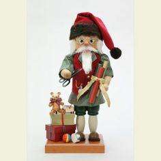 Wunderschöner Weihnachts-Nussknacker - Santa at Work Limitiert - 46,5cm von den weltberühmten Christian Ulbricht Nussknackern