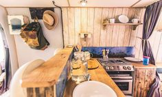 rustic campers campervan with a real kitchen for real cooks