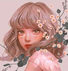 Anime Girl Drawings, Cool Art Drawings, Anime Art Girl, Cartoon Girl Images, Cartoon Art Styles, Dibujos Tumblr A Color, Digital Art Girl, Cute Art, Illustration Art