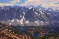 """Kearsarge Pass Overlook"" by Charles Muench; 12""x20""; Oil on Linen #CaliforniaArt #EnPleinAir #LandscapeArt"