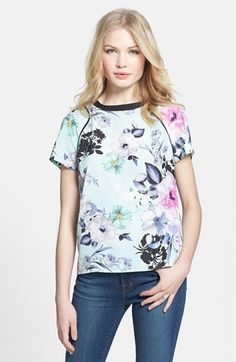 1.State Floral Print Tee / size up to have it fit like the model