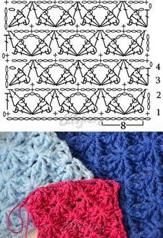 "Узор ""Звездный танец""   Crochet by Ellej   Crochet by Ellej   Вязание крючком от Елены Кожухарь"