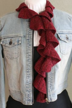 Learn to Knit a Spiral Scarf-Takes one hank of yarn (preferably a luxury yarn), and the tutorial video takes the guess work out of wraps & turns.