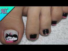 Fails art french new ideas Cat Nail Art, Cat Nails, Toe Designs, Nail Art Designs, Black Manicure, French Nail Art, Mermaid Diy, Pedicure Nail Art, Halloween Design