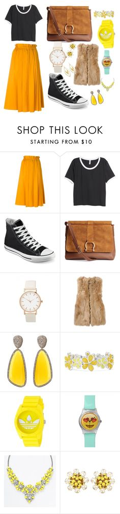 """""""Untitled #5"""" by ahcrownover ❤ liked on Polyvore featuring N°21, H&M, Converse, Fendi, Christina Debs, Liz Claiborne, adidas, Dolce&Gabbana, Alexis Bittar and women's clothing"""