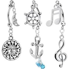 Sea Song Double Mount Belly Ring 3 Pack Set Created with Swarovski Crystals Swarovski Jewelry, Resin Jewelry, Swarovski Crystals, Fine Jewelry, Cartier Jewelry, Dainty Jewelry, Crystal Jewelry, Jewelry Bracelets, Jewelry Box