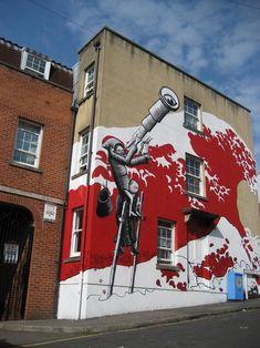 Street Art- Phlegm 4 Graffiti Artists to Watch in 2013 Urban Street Art, 3d Street Art, Street Artists, Banksy, Grafitti Street, Murals Street Art, Art Nouveau, Art Deco, Graffiti Artwork