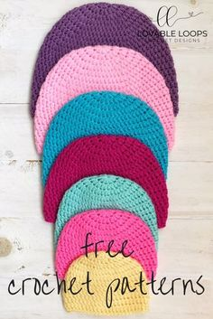 09d337f9ce1 Free Basic Beanie Crochet Pattern. Sizes preemie- adult.  crochetbeanie   crochethat