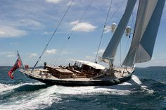 Andre Hoek designed 175 foot Sister ships, Adele and Erica sailing together on the Hauraki Gulf, Auckland New Zealand.- AJ MacDonald - Yacht Broker - AJ@DenisonYachtSales.com