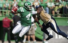 Riders make Bombers' QB pay for taunting fans Winnipeg Blue Bombers, Saskatchewan Roughriders, Football Helmets, Fans, Celebrities, How To Make, Celebs, Foreign Celebrities, Famous People