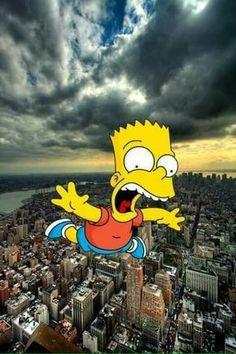 Bart Simpson New Horizons Cartoon Wallpaper, Iphone Live Wallpaper, Simpson Wallpaper Iphone, Apple Wallpaper, Aesthetic Iphone Wallpaper, Disney Wallpaper, Screen Wallpaper, Cool Wallpaper, Wallpaper Backgrounds