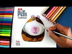 Cómo dibujar a Norman (La Vida Secreta de tus Mascotas) | How to draw Norman (The Secret Life of Pets)