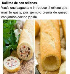 Rollitos de pan rellenos
