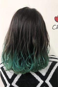 The 13 Hottest Mermaid Hair Color Ideas You'll See in 2019 - Style My Hairs Blue Tips Hair, Hair Dye Tips, Dye My Hair, Dip Dye Hair, Ombre Hair Color, Cool Hair Color, Blue Hair Streaks, Green Hair Ombre, Cabelo Ombre Hair