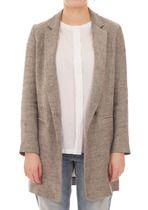 Single Button Linen Coat