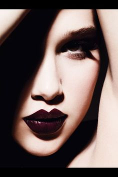 Vogue Germany Model: Anais Pouliot Photographer: Ben Hassett Makeup by: Linda Cantello Nails by: Elsa Durrens No Words Dramatic Lips Burgundy Wine Glossy Cat Eye liner Beauty Makeup, Face Makeup, Hair Beauty, Makeup Geek, Vogue Makeup, Plum Makeup, Vogue Beauty, Goth Makeup, Sexy Makeup